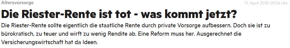 Riester Lüge Stern.de