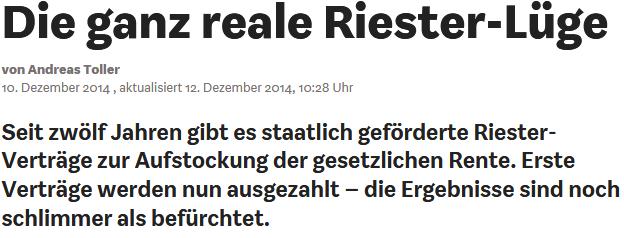 Riester Lüge WIWO.de